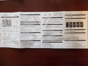 You will notice as you unfold the instructions. The first side is pages 1-4.
