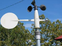 cup anemometer on a weather station