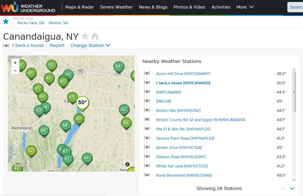 Changing Stations On Weather Collector