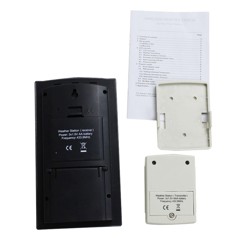 Blackshark Wireless Indoor & Outdoor Digital Weather Station Clock-