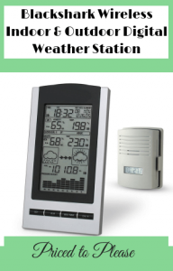 Blackshark Wireless Indoor & Outdoor Digital Weather Station