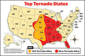 Tornado Alley in the US
