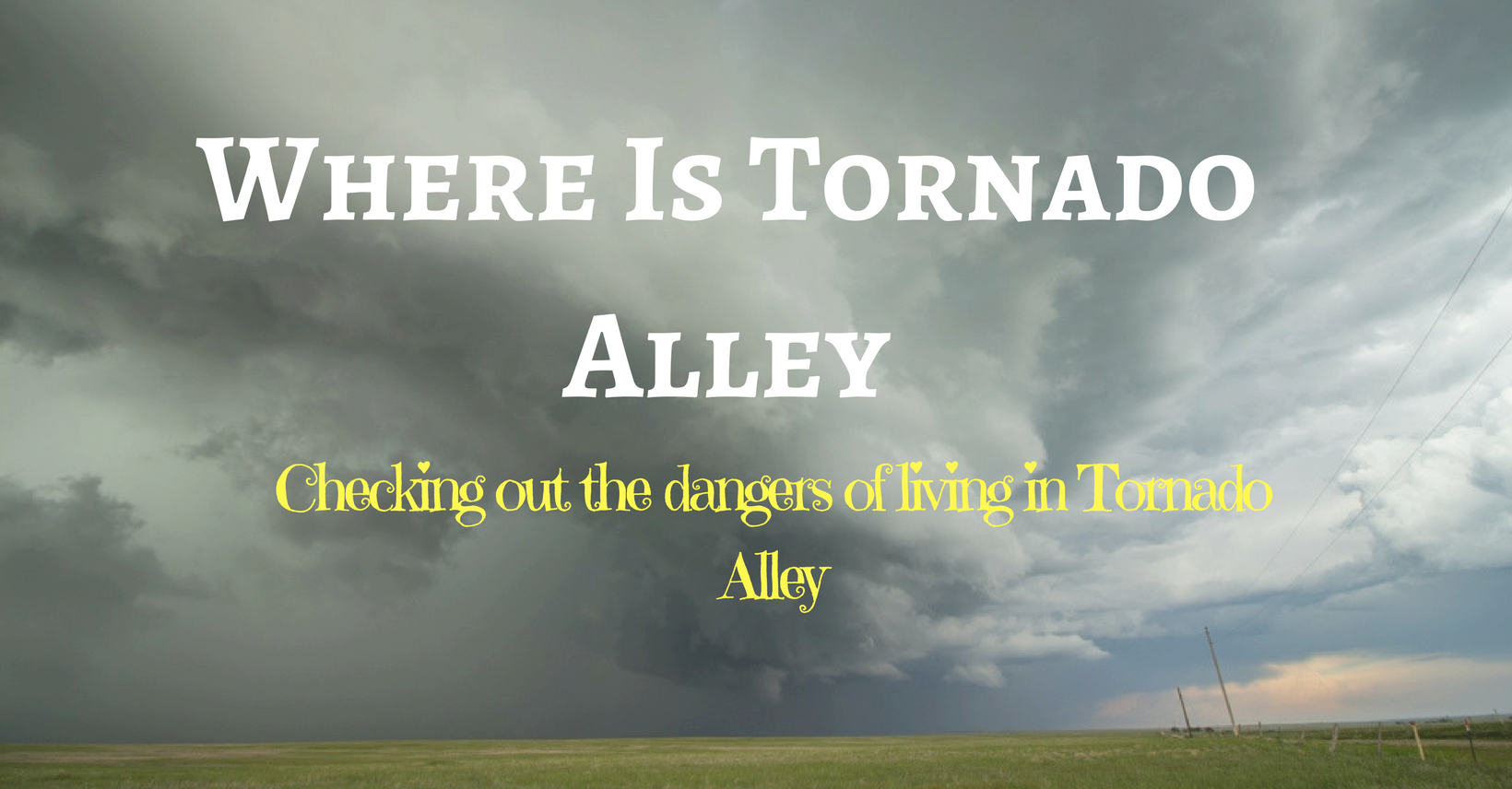 Tornado Alley Season Starts-So What About It?