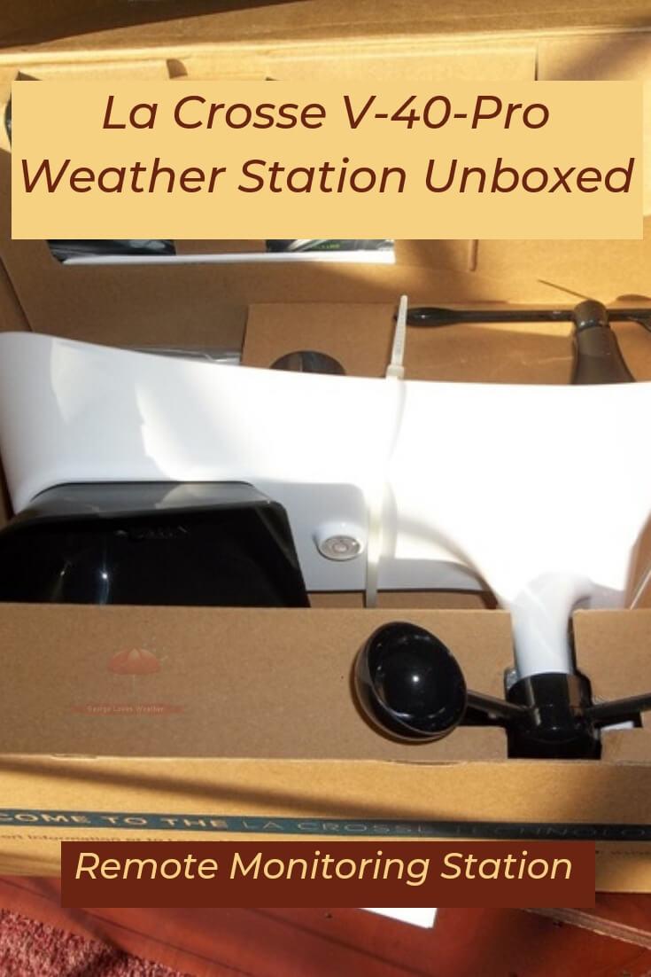 La Crosse V-40-Pro Weather Station Unboxed