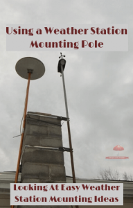 Using a Weather Station Mounting Pole