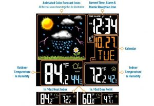 La Crosse Technology 308-146 Wireless Color Weather Station Display Screen